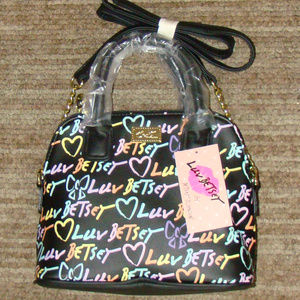 LUV BETSEY SMALL SATCHEL WITH CROSSBODY STRAP